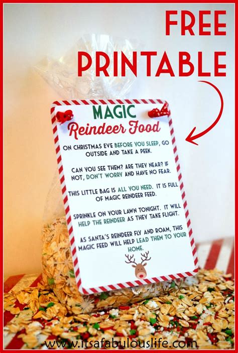 printable reindeer food directions 1000 ideas about reindeer food on pinterest magic