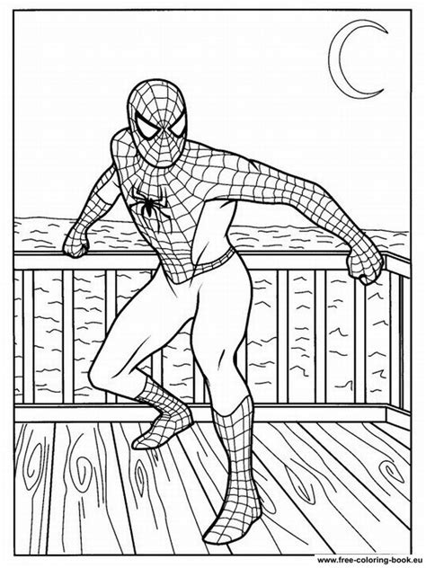 Coloring pages Spiderman - Page 1 - Printable Coloring