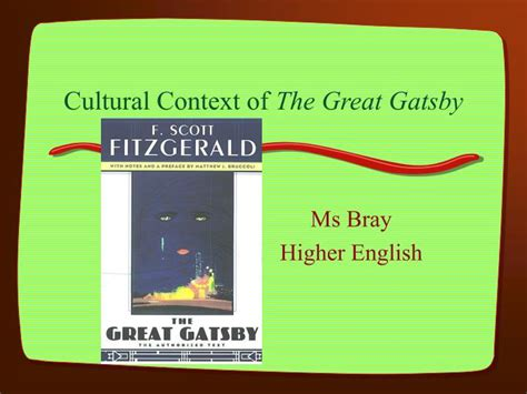 themes of identity in the great gatsby ppt cultural context of the great gatsby powerpoint