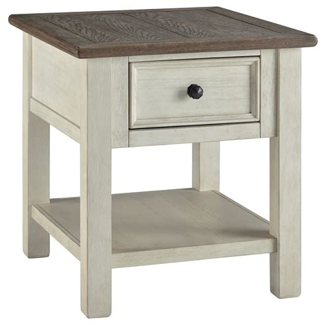 value city end tables signature design by bolanburg rectangular end table