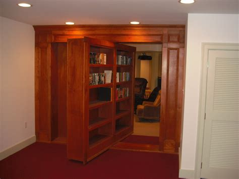 rotating bookcase door stashvault