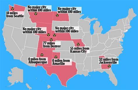 close      nuke fascinating map reveals