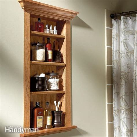 How To Build A Shelf Inside A Wall by Build A Wall Niche The Family Handyman