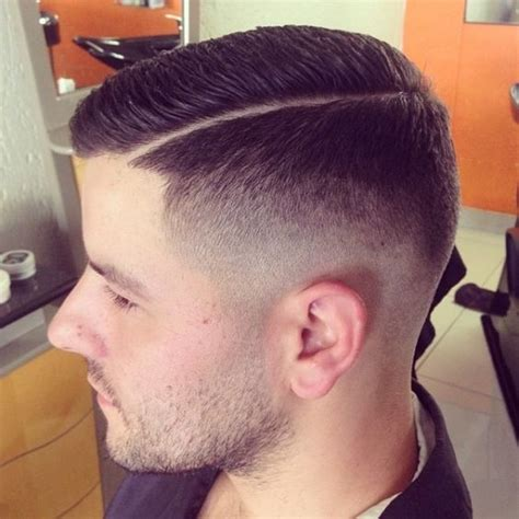 haircur men line fade slick razor side line side barbershops pinterest