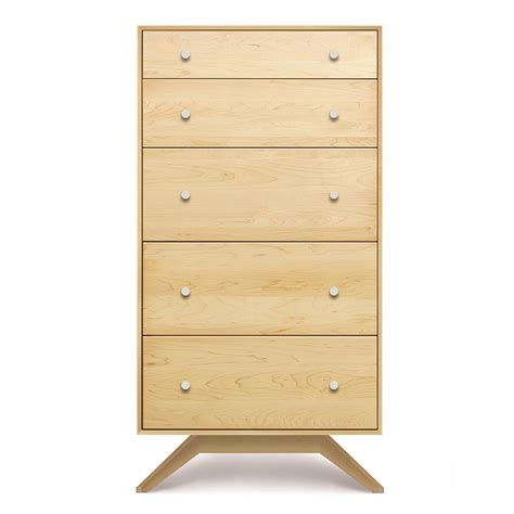 Maple Drawers by Copeland Astrid Maple 5 Drawer Chest American Made