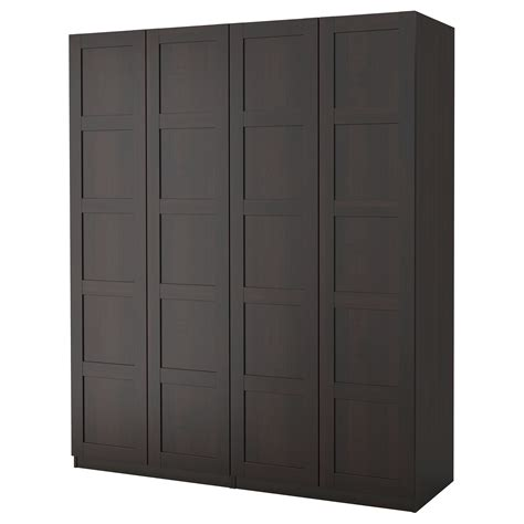 Brown Wardrobes by Pax Wardrobe Black Brown Bergsbo Black Brown 200x60x236 Cm
