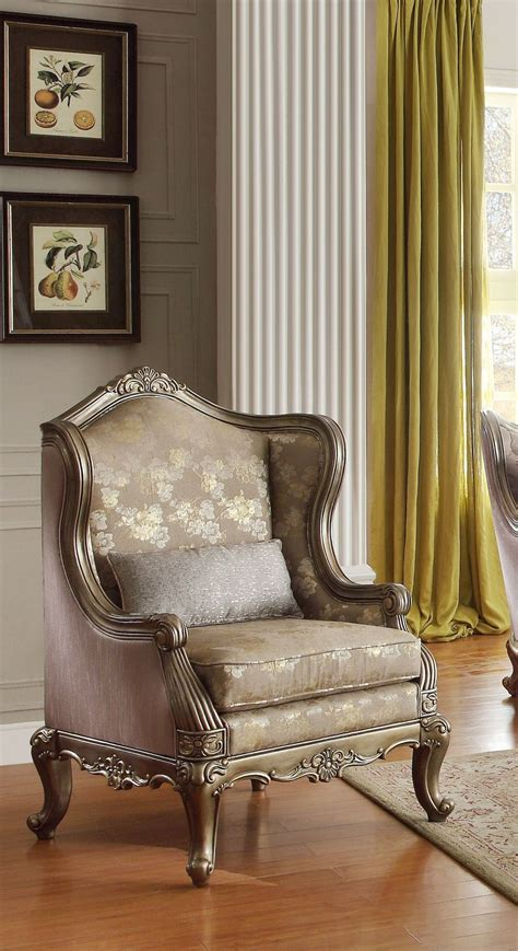 Gold Living Room Chairs Fiorella Gold Faux Silk Living Room Set From Homelegance 8412 3 Coleman Furniture