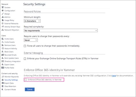 Yammer Office 365 Portal Enforcing Office 365 Identity In Yammer Now Available