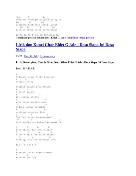 berita kepada kawan ebiet g ade with lyrics lirik lagu ebiet g ade berita kepada kawan chord gitar