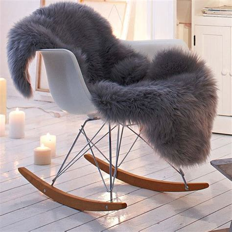 Throw On Chair - shaggy faux fur animal pelt chair throw covers by