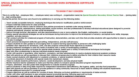 Work Experience Letter Primary School Work Experience Certificate For School Principal Application For Issuance Of Experience Letter