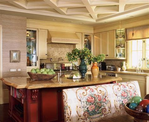 decorating a kitchen island italian style in newport coast california traditional