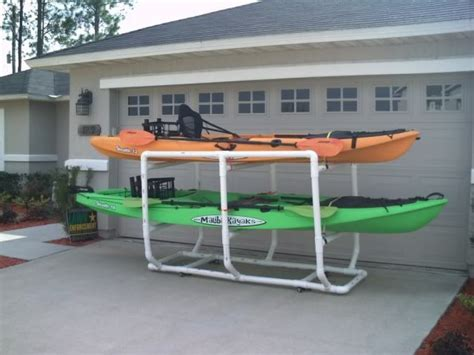 Diy Pvc Kayak Rack by Pin By Powers On All Things That Float Your Boat