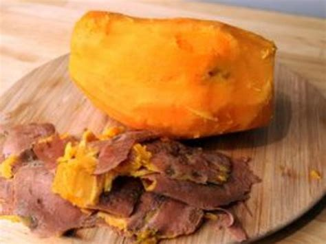 how to boil a sweet potato and remove the skin leaftv