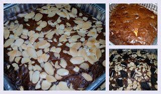 Brownies Oreo Motif Batik Almond cakes such