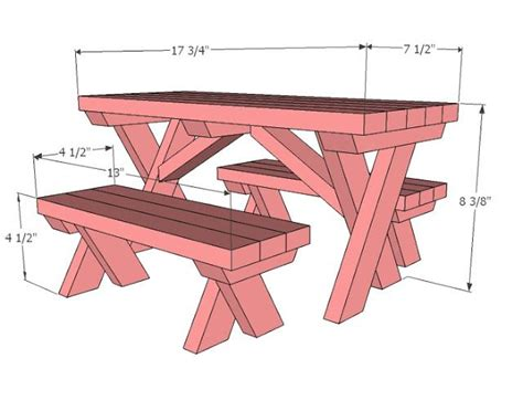 ana white picnic table bench ana white build a doll x picnic table and bench set