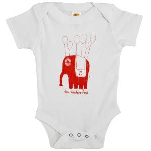 Dmb baby floating elephant onesie shop the dave matthews band official store