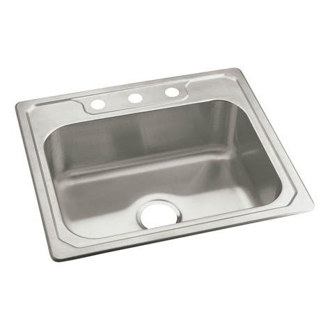 home depot kitchen sinks drop in moen 1800 series drop in stainless steel 25 in 3 hole
