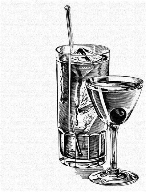 retro martini drawing 31 best images about vintage drawings black white on