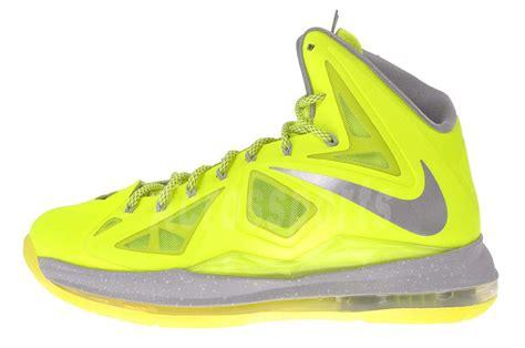highlighter basketball shoes nike lebron x 10 2013 mens king basketball shoes