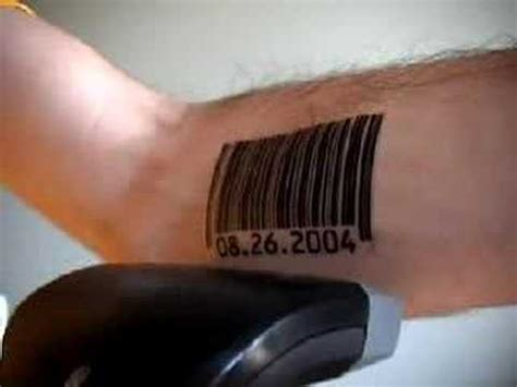 scanning barcode tattoos with voice synthesizer youtube