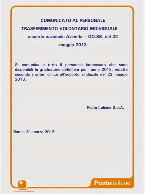 graduatoria definitiva mobilit 224 poste italiane 2015 xbrowser