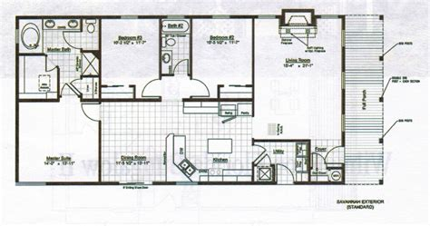 Floor Plan For Homes With Modern Backyard House Plans