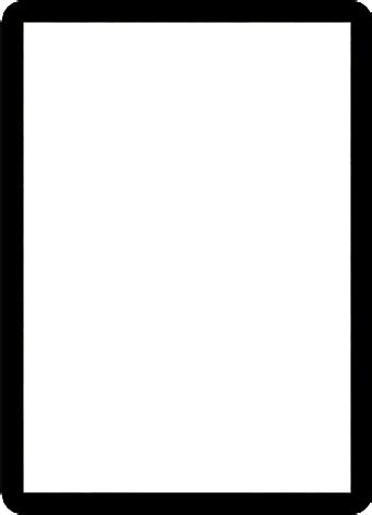 magic the gathering card template png does a basic simple black border template exist artwork