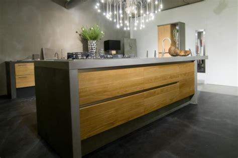 keuken hout en beton keukeneiland van beton en hout jp walker houten keukens