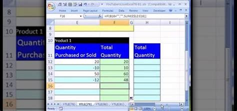 How To Create An Excel Inventory Template With Running Totals 171 Microsoft Office Wonderhowto Running Inventory Excel Template