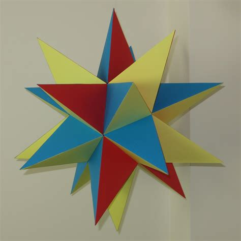 Paper Great Dodecahedron - paper great stellated dodecahedron