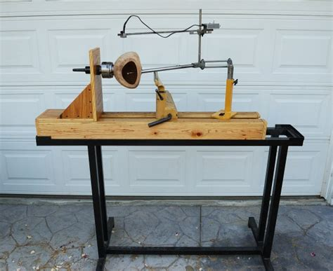 wood lathe bench plans tyual plans bench wood lathe diy