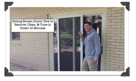 How To Remove A Screen Door by 1000 Ideas About Sliding Screen Doors On
