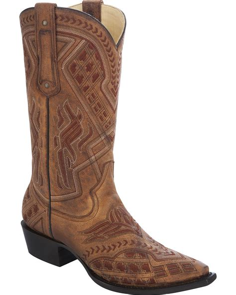 snip toe mens cowboy boots corral s embroidered cowboy boot snip toe g1299 ebay