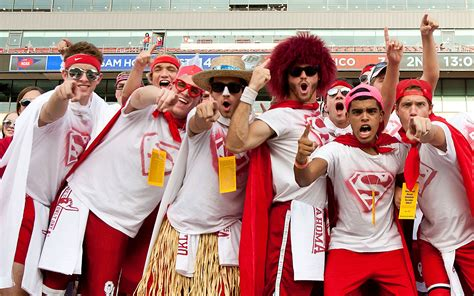 best college student sections oklahoma student sections in college football espn
