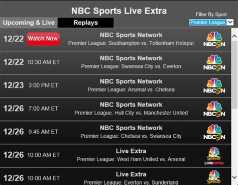 epl on tv today viewers watch free live online video stream of premier