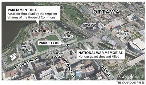 canadian embassy in map ottawa shooting reservist killed gunman dead on