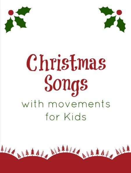 christmas songs for preschoolers with motions