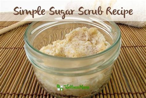 simple sugar scrub recipe wonderfuldiy com