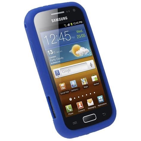 skins for android phone igadgitz blue silicone skin cover for samsung galaxy ace 2 i8160 android smartphone mobile