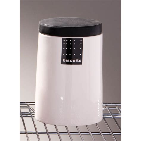 Black Kitchen Canisters by Tag Black White Kitchen Ceramic Storage Canisters Jars Set