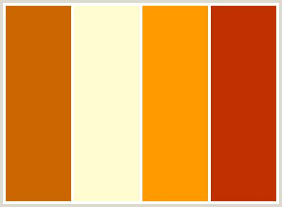 orange color schemes colorcombo22 with hex colors cc6600 fffbd0 ff9900 c13100