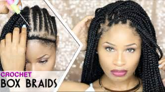 how to part hair for boxed braids how to crochet box braids looks like the real thing