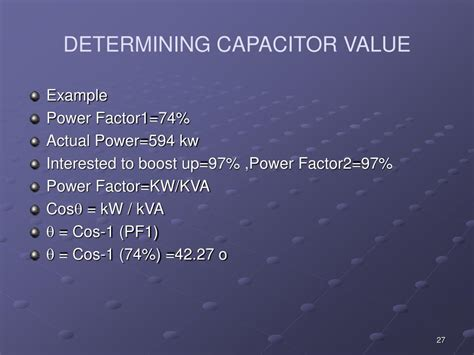 power factor correction ppt presentation capacitor value determination 28 images q value of capacitor 28 images capacitor time
