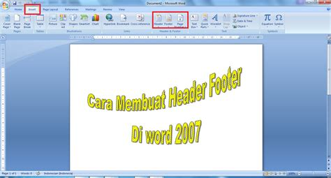 cara membuat header and footer di excel 2007 cara membuat header footer di word 2007 unduh files