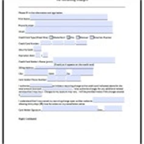 recurring credit card authorization form template word credit card authorization forms pdf word