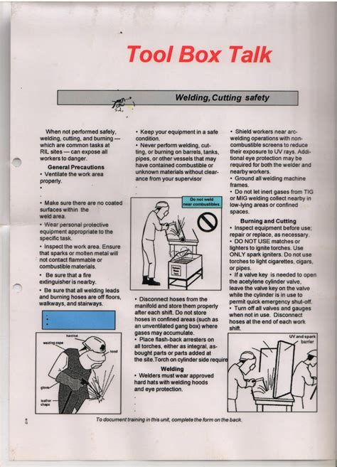 safety toolbox template safety toolbox template 28 images template minutes of