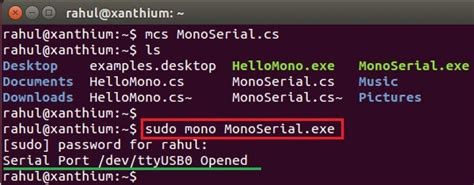 tutorial mono linux opening a serial port in linux using mono and c full