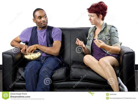 couch sharing roomates royalty free stock photos image 33383498