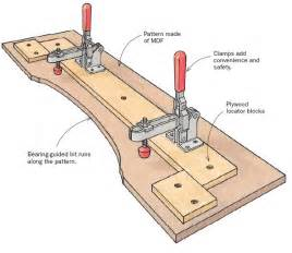 template router pattern routing jig finewoodworking